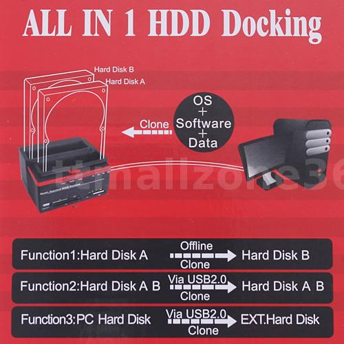 how to clone a hard drive with dock station