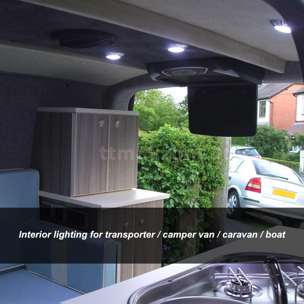 For Vw T4 T5 Transporter Boat Camper Van 6x Interior Led Spot Light 1 8w Z8b2 Ebay