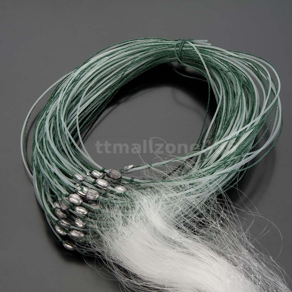 25m chemical fiber 3 layers white monofilament fishing net for Fiber in fish