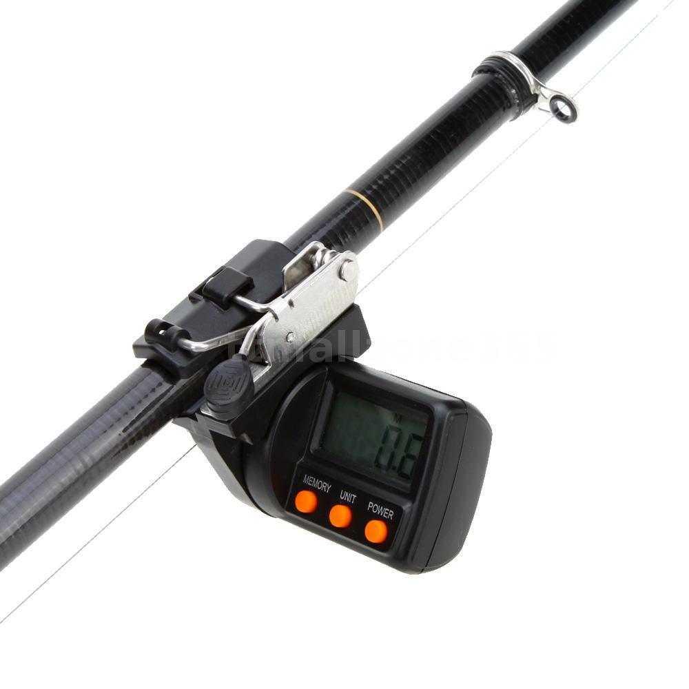 Fishing line counter depth gauge electronic digital for Digital fishing reel