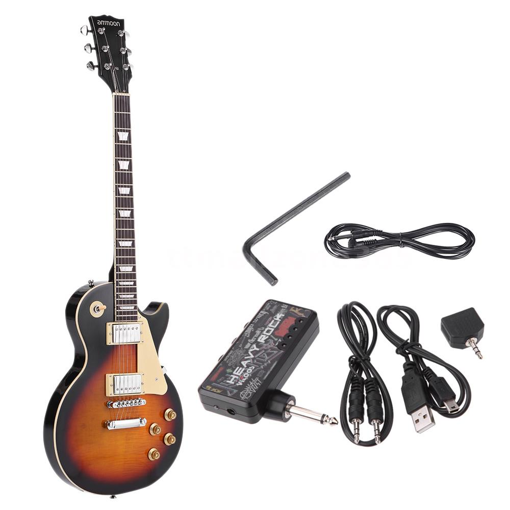 ammoon electric guitar basswood body headphone amp cable pickguard hot g2y1 ebay. Black Bedroom Furniture Sets. Home Design Ideas