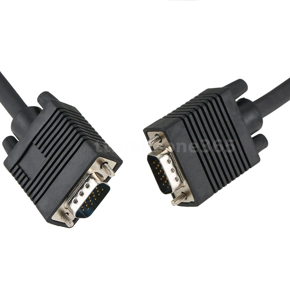 1080P Male to Male VGA 15 Pin Cable 10FT Connectors for Video ...