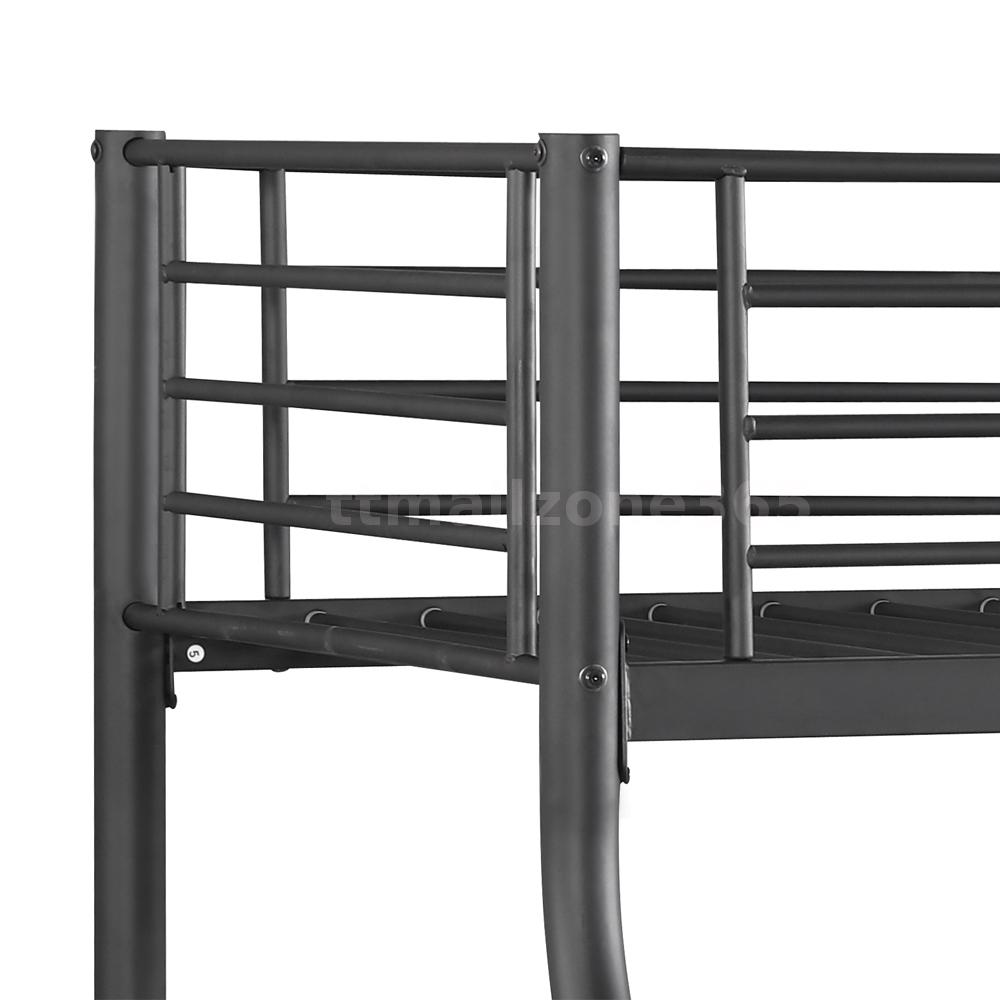 Ikayaa twin over full bunk metal bed frame bedroom dorm for Bunk bed frame
