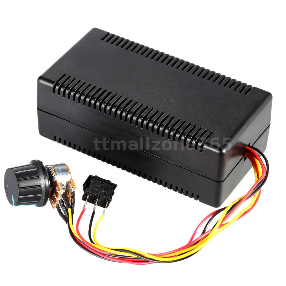 Adjustable h bridge dc motor speed pwm controller 30a with for Electric motor reversing switch