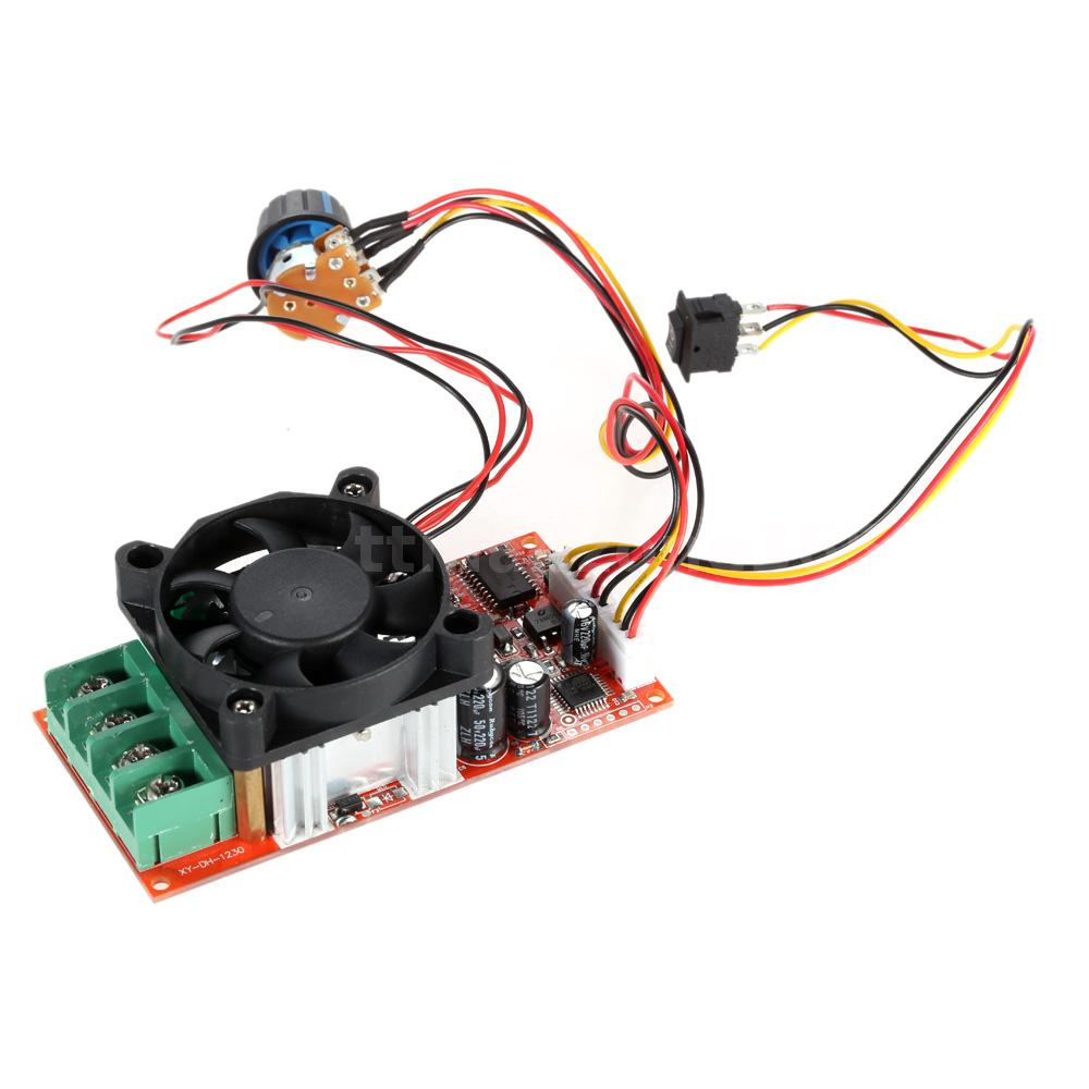 Adjustable h bridge dc motor speed pwm controller 30a with for Speed control of dc motor