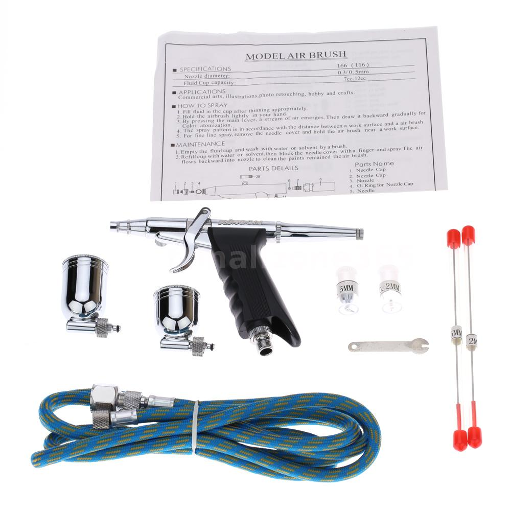 Double action pistol gun trigger airbrush set for model making this professional airbrush is widely used in model making cake decorating tattoos nail art etc this spray gun pistol trigger design gives you the feel prinsesfo Choice Image