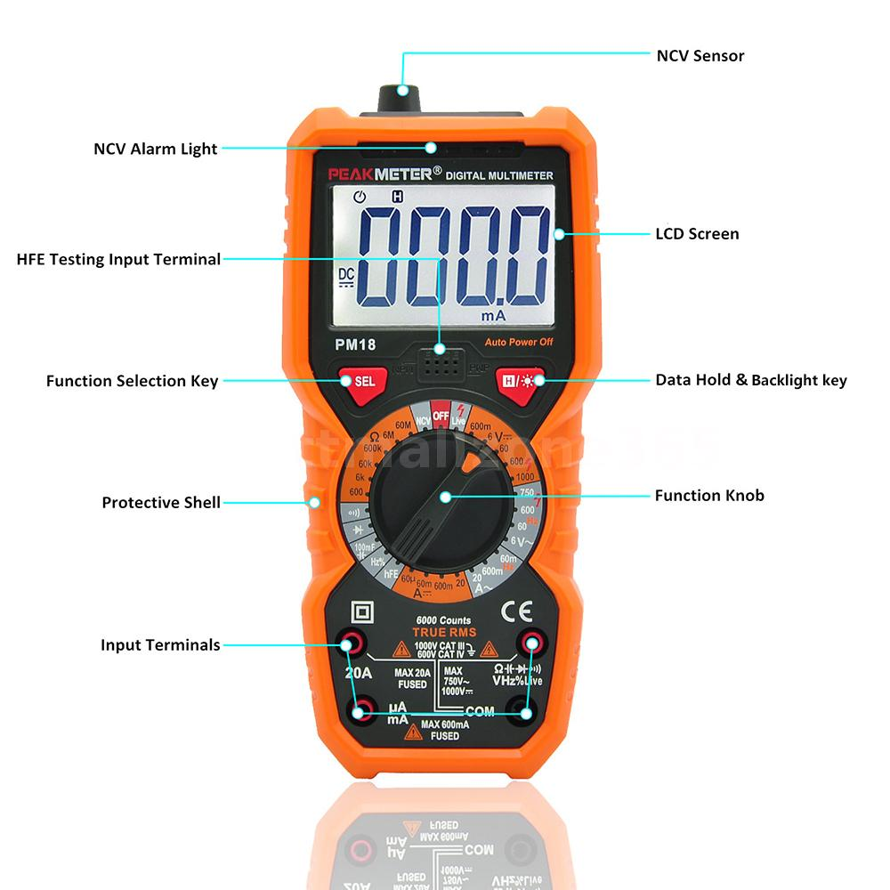how to read ac current with a multimeter