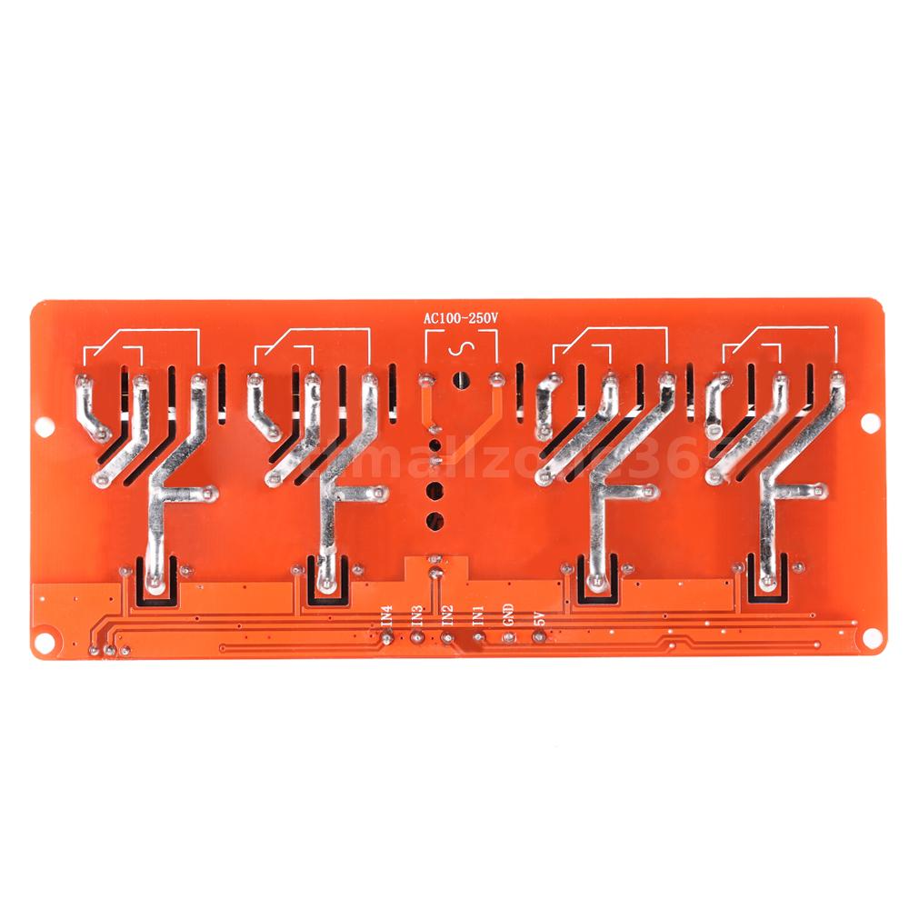 4 Channel 250vac 30a Solid State Relay Module Board High Low Level Latch Up 250v Quality Input Power Supply Dc 5v Or Ac 100 Isolation Modulenot Included Has Been Assembled And More Convenient For