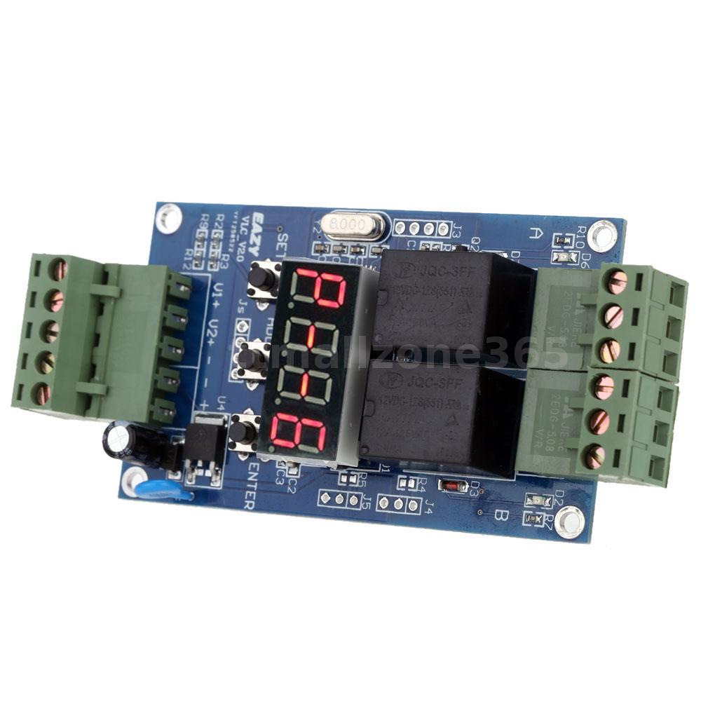 V Dual Programmable Relay Delay Timer Module  Voltage Detection - Normally open timed closed relay
