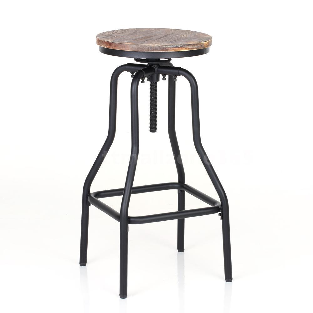 3 Adjustable Swivel Bar Stool Set Counter Height Kitchen: Set Of 2 Shaby Chic Height Adjustable Swivel Barstool