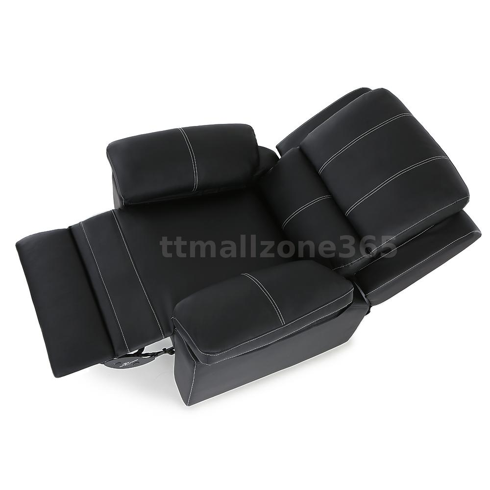 Reclining Massage Armchair Leather Lounge Sofa Recliner