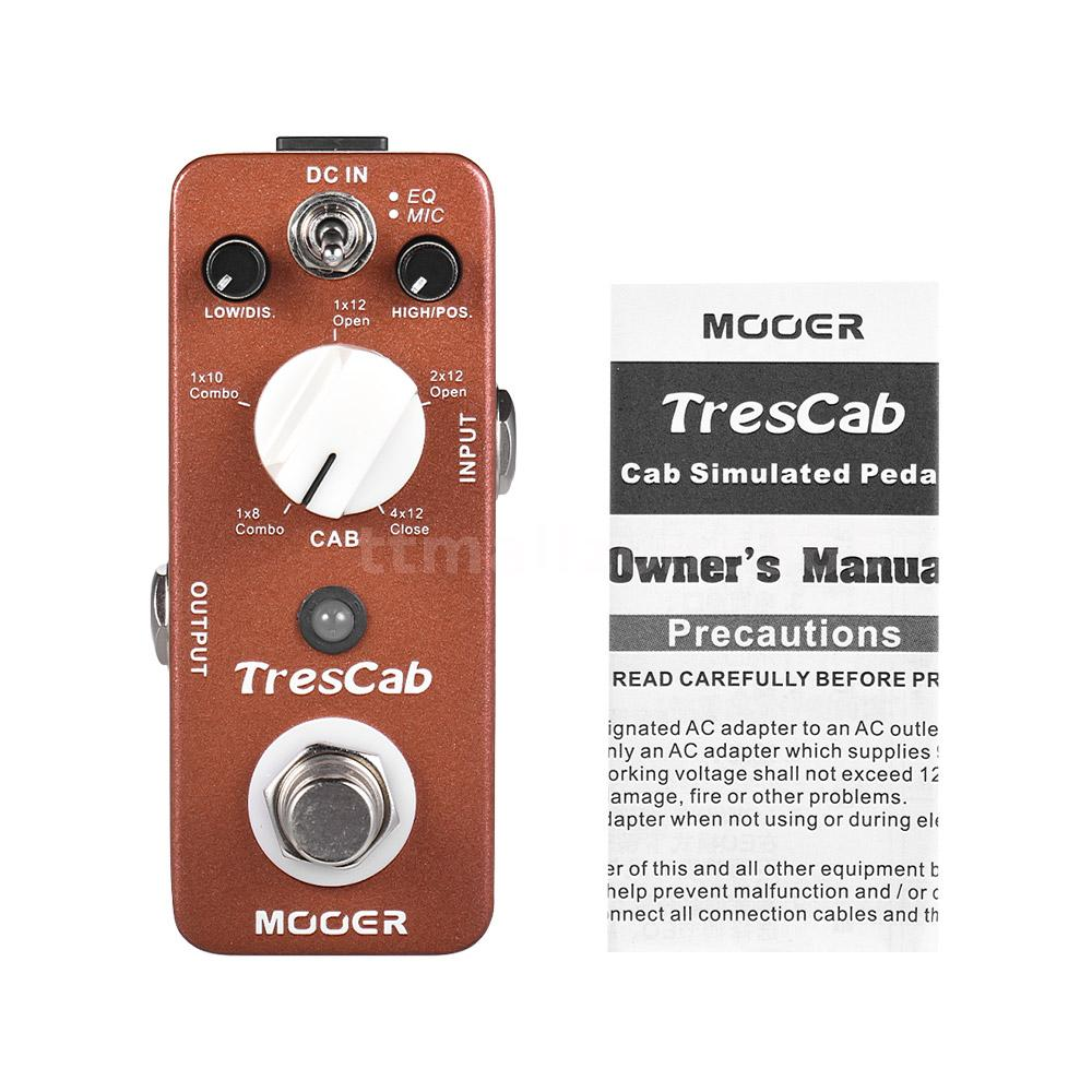 mooer trescab cabinet simulated simulator guitar effect pedal true bypass f0b2 ebay. Black Bedroom Furniture Sets. Home Design Ideas