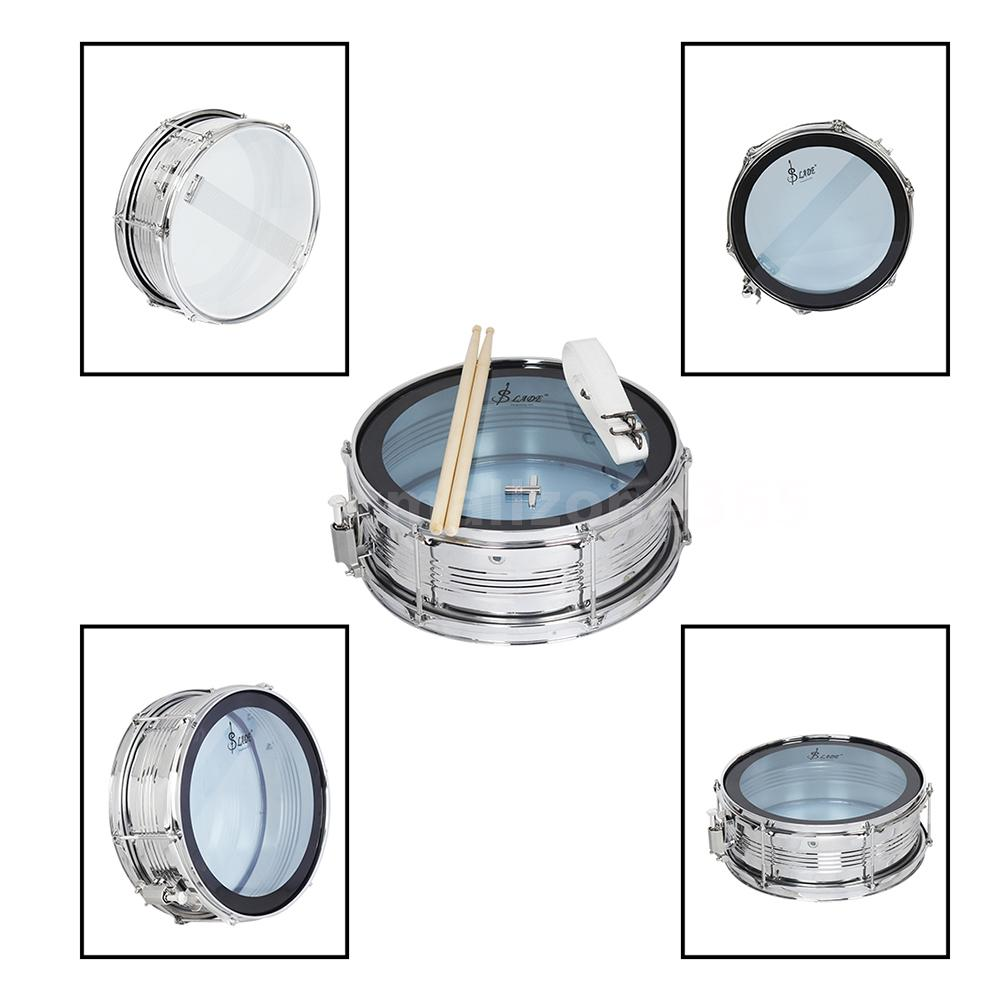 14 Snare Drum Kit Stainless Steel Body Pvc Head With Diagram Inch For Students Professional Drummer And Band Playing Cavity Adopts 06mm Material