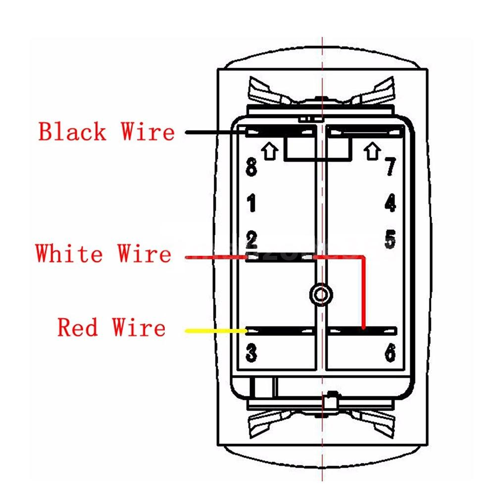 Wiring Diagram For 12v Led Switch: Car RV LED Light Bar Rocker On/Off Switch 40A Relay Wiring