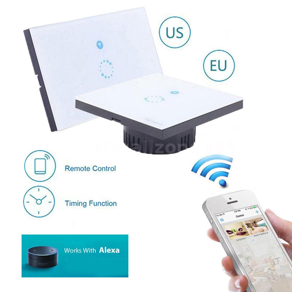 Sonoff Wireless Capacitive Touch Sense Glass Switch Wifi Phone APP ...