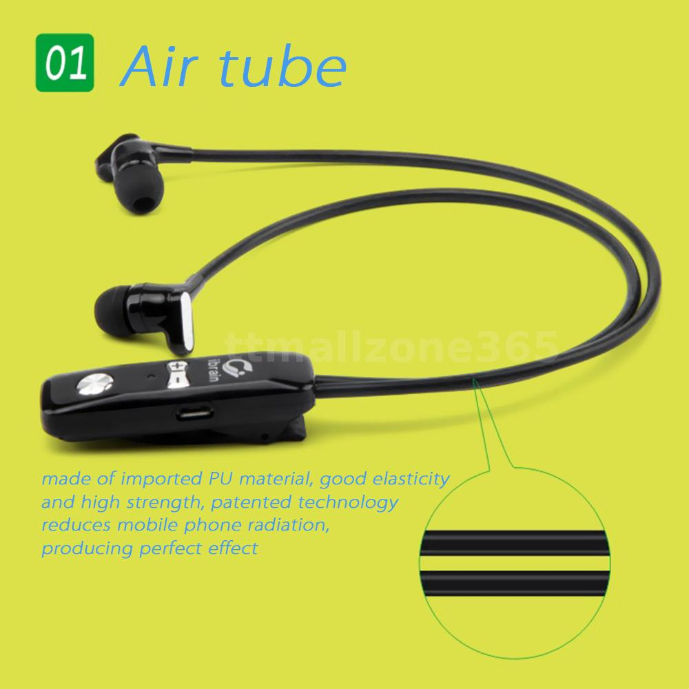 anti radiation air tube bluetooth stereo headset earphone sport headphone q2c0 ebay. Black Bedroom Furniture Sets. Home Design Ideas