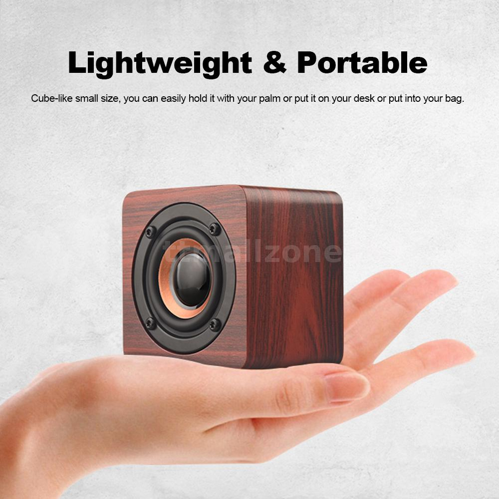 Details About Q1 Mini Wooden Wireless Bluetooth42 Speaker Subwoofer Magic Cube Sound Box N0t5
