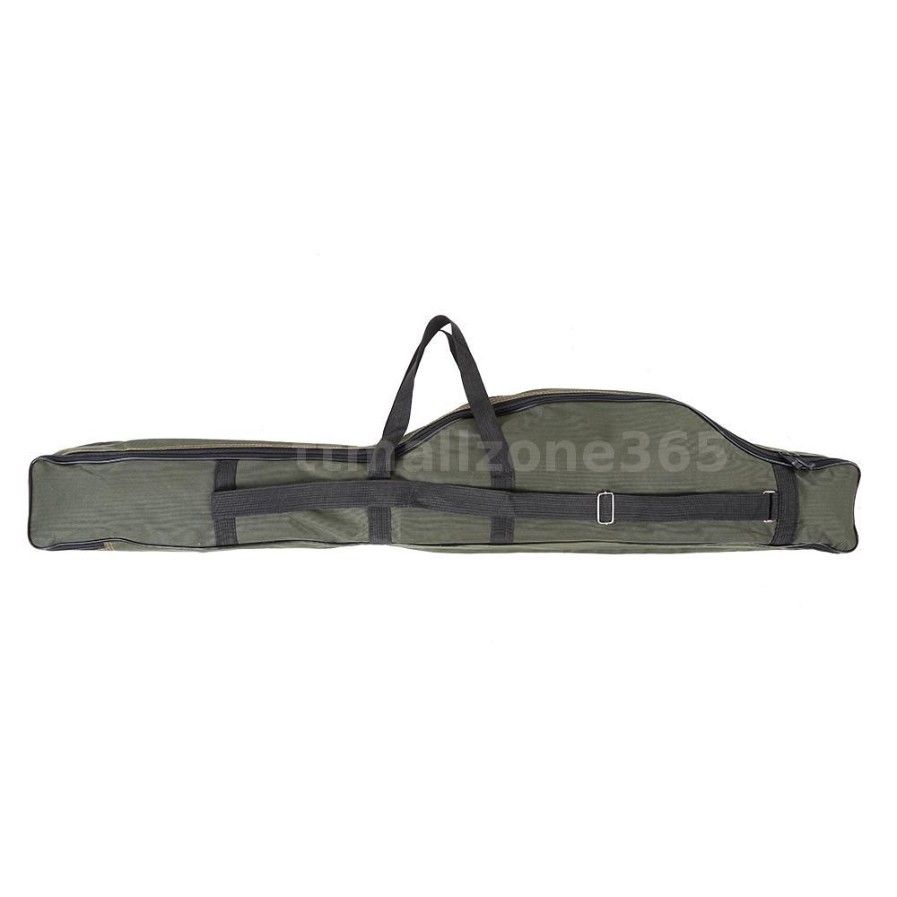 Fishing rod case organizer carrier holder rack hooks pole for Fishing backpack with rod holder