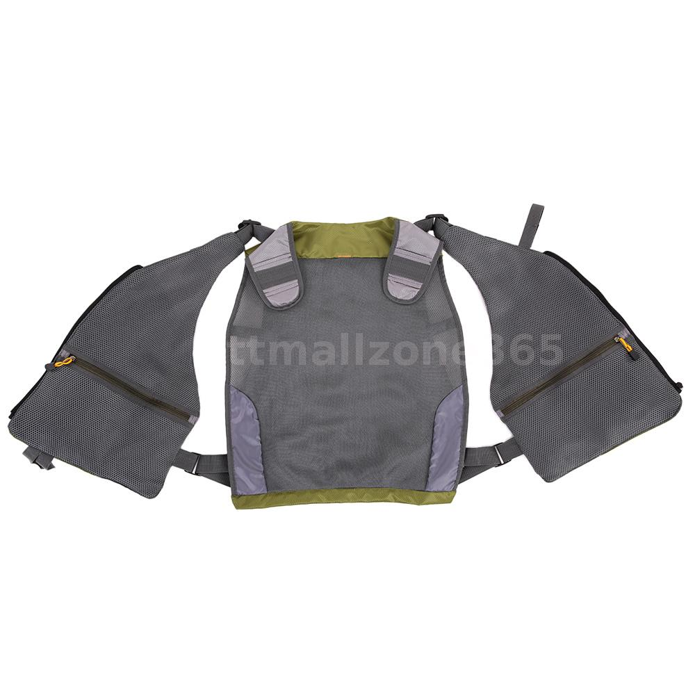 Outdoor adjustable fly fishing vest mesh premium gear for Professional fishing gear