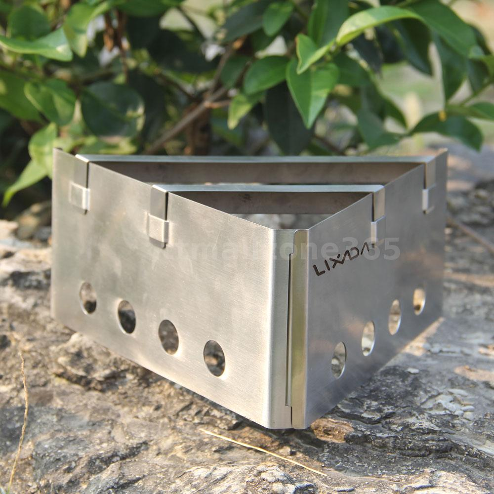 Portable wood stove outdoor cooking picnic camping for Outdoor wood cooking stove